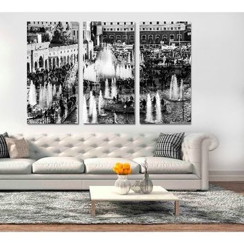 3pcs Modern Photo Picture City View Landscape Room Decor Canvas Art Painting Picture Photo Living Room Office Canvas Painting fo