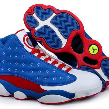 Free Shipping Nike Air Jordan Captain America Series Basketball Sneaker