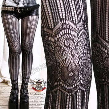 Hi Quality French Lace Pattern Tights/Pantyhose/Hosiery