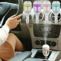 Hot Mini Portable Car Use Air Humidifier Ultrasonic Essential Air Atomizer Diffuser Wave Air Filter Mist Maker Car Charger