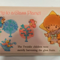 Vintage Little Twin Stars  Pencil Case 1985 Sanrio  made in Japan