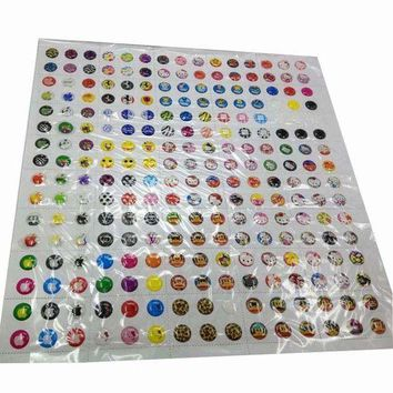 MDIGYN5 330pcs Cartoon Rubber Home Button Sticker for iPhone 4 4s 5G ipad 2 3