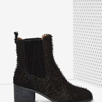 Jeffrey Campbell Hunter Fuzzy Chelsea Boot