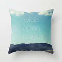 Wide Open Spaces Throw Pillow by Shawn King