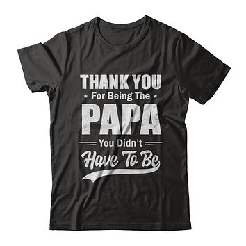 Thank You For Being The Papa You Didnt Have To Be Fathers Day