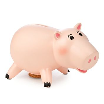 Licensed cool Disney Store Toy Story 3 Hamm Pig Piggy Bank Resin Real Scale w/Cork Stopper NEW