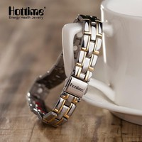 2018 Hottime New Fashion Men Jewelry Power Magnetic Titanium Bracelet Healing Male Bangle Free Shipping via AliExpress Standard