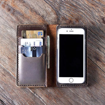 iPhone 6 Leather Case Wallet, iPhone 6 PLUS Wallet, Leather iPhone Wallet - [Listing #055]