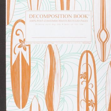 Classic Surfboards Decomposition Book: College-ruled Composition Notebook With 100% Post-consumer-waste Recycled Pages
