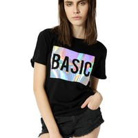 BASIC HOLOGRAPHIC tee