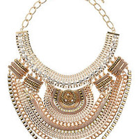 Mixed Chain Drape Collar - Jewelry  - Bags & Accessories