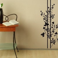 Wall Decals Sticker Flower Pattern Abstract Style Art Design Room Nice Picture Decor Hall Wall Chu1431