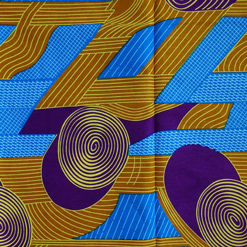 Blue African print fabric by yard/ Ankara fabric/ African fashion fabric/ African print fabric/ Dashiki fabric / Wax Print / African Cloth