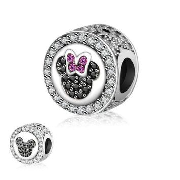 LMF8UH Fit Original Pandora Charms Bead Bracelet 2016 Autumn Really 925 Sterling Silver Charm Minnie Mickey DIY Jewelry Making Berloque