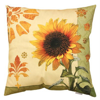 Sunflower Throw Pillow - Uv Treated And Weatherproof