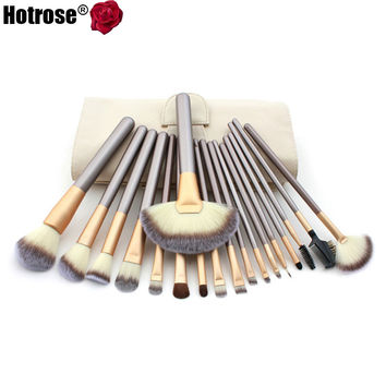 12/18 pcs Makeup Brush Set Synthetic Brushing Brush Professional Cosmetics Makeup Foundation Powder Blush Eyeliner Brushes