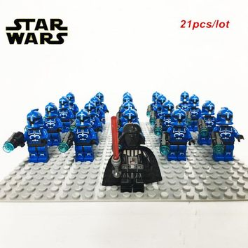 Star Wars Force Episode 1 2 3 4 5 NEW 21PCS/LOT  Senate Commando Captain Army sw613 Darth Vader Minifig   compatible legoe 75088 kid block toys AT_72_6