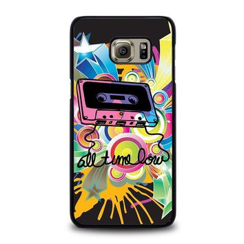 all time low retro cassete samsung galaxy s6 edge plus case cover  number 1
