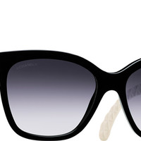 Chanel Sunglasses Black Butterfly Quilting | Online Boutique