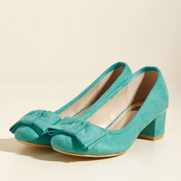Go for Glam Vegan Heel in Teal | Mod Retro Vintage Heels | ModCloth.com