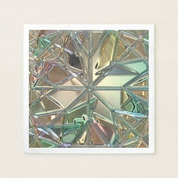 Diamond pattern, stained glass look napkin
