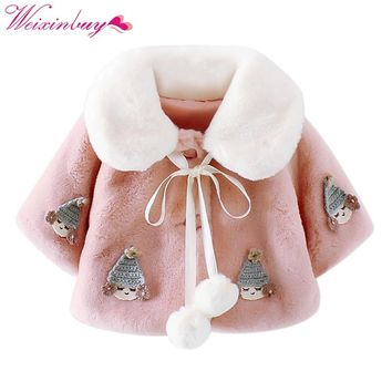 2017 Super Warm Winer Sweet Infant Baby Girls Cute Pink White Princess Clothing Cozy Winter Coat Soft Warmer Jacket