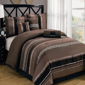 Claudia Coffee 7-Piece Comforter Set