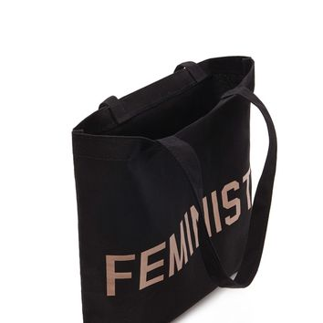 Feminist Graphic Tote Bag