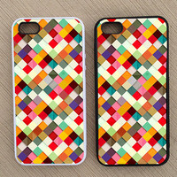 Cute Abstract Square Geometric Pattern iPhone Case, iPhone 5 Case, iPhone 4S Case, iPhone 4 Case - SKU: 167