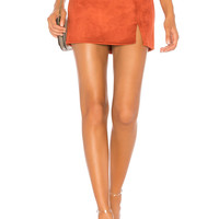 About Us Dillon Mini Skirt in Rust