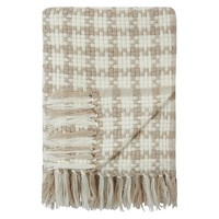 George Home Natural Chunky Cross Weave Throw | Home & Garden | George at ASDA