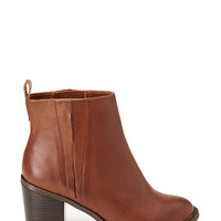 FOREVER 21 Slit Faux Leather Booties Camel