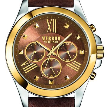 Versus by Versace Men's SBH030015 Chrono Lion Analog Display Quartz Brown Watch