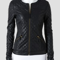 Love Token Quilted Faux Leather Jacket - Women   Stein Mart