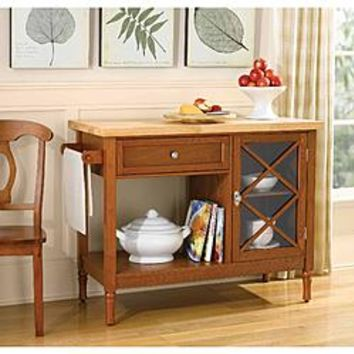 Country Living Light Mahogany Kitchen Island - Home - Furniture - Dining & Kitchen Furniture - Kitchen Carts & Islands