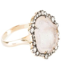 Kimberly McDonald - Light Geode and Diamond Ring (Light Geode/Diamond/Rose Gold)