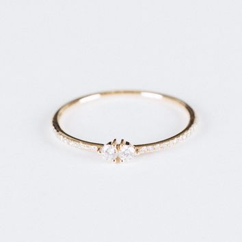 Split Diamond Ring