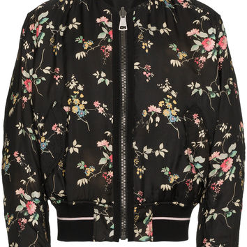 Haider Ackermann Freesia Black Floral Bomber Jacket - Farfetch
