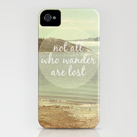 Not All Who Wander Are Lost iPhone Case by Jillian Audrey   Society6