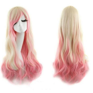Copy of Ombre Cosplay Wig Blonde Pink