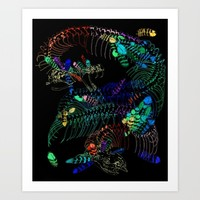 Anatomical Quetzalcoatl 2 Art Print by Rachel Hoffman