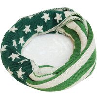Green Flag Pattern Scarf