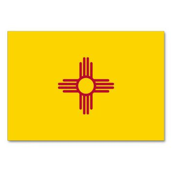 Patriotic table card with Flag of New Mexico