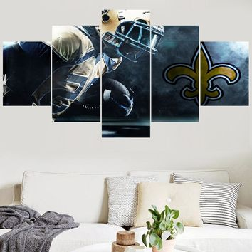 Newest Sport Team Paintings New Orleans Saints Modern Home Decor Living Room Bedroom Wall Art Canvas Print Painting Calligraphy
