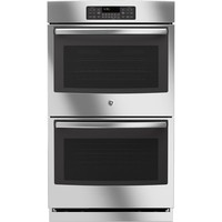 GE 30 in. Double Electric Wall Oven Self-Cleaning with Steam in Stainless Steel-JT3500SFSS - The Home Depot