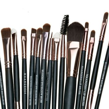 "15pcs Makeup Brushes Set Eye Shadow Foundation Eyeliner Eyebrow Lip Brush Makeup Brushes ""FREE SHIPPING"""