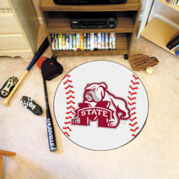 "Mississippi State University Baseball Mat 26"" diameter"
