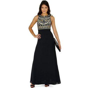 Egyptian Style Evening Maxi Dress