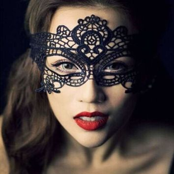 Sexy Lace Crochet Eye Mask For Masquerade Party Costume