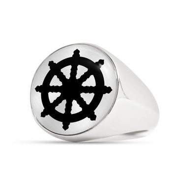 Dharma Wheel - Luxury Signet Ring